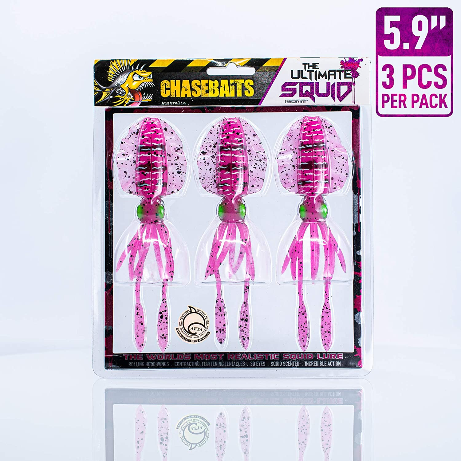 Chasebaits Ultimate Squid 5.9 Pink Tiger