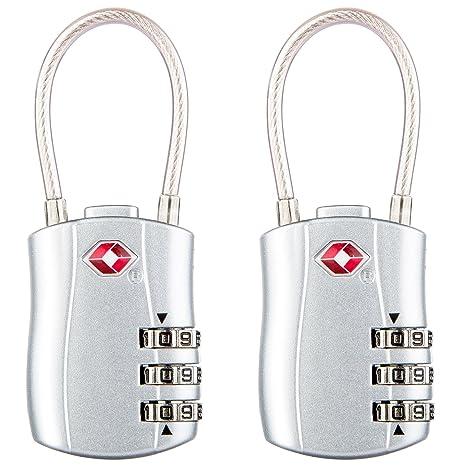 Diyife TSA - Candados de seguridad para equipaje (2 paquetes, 3 dígitos, candado