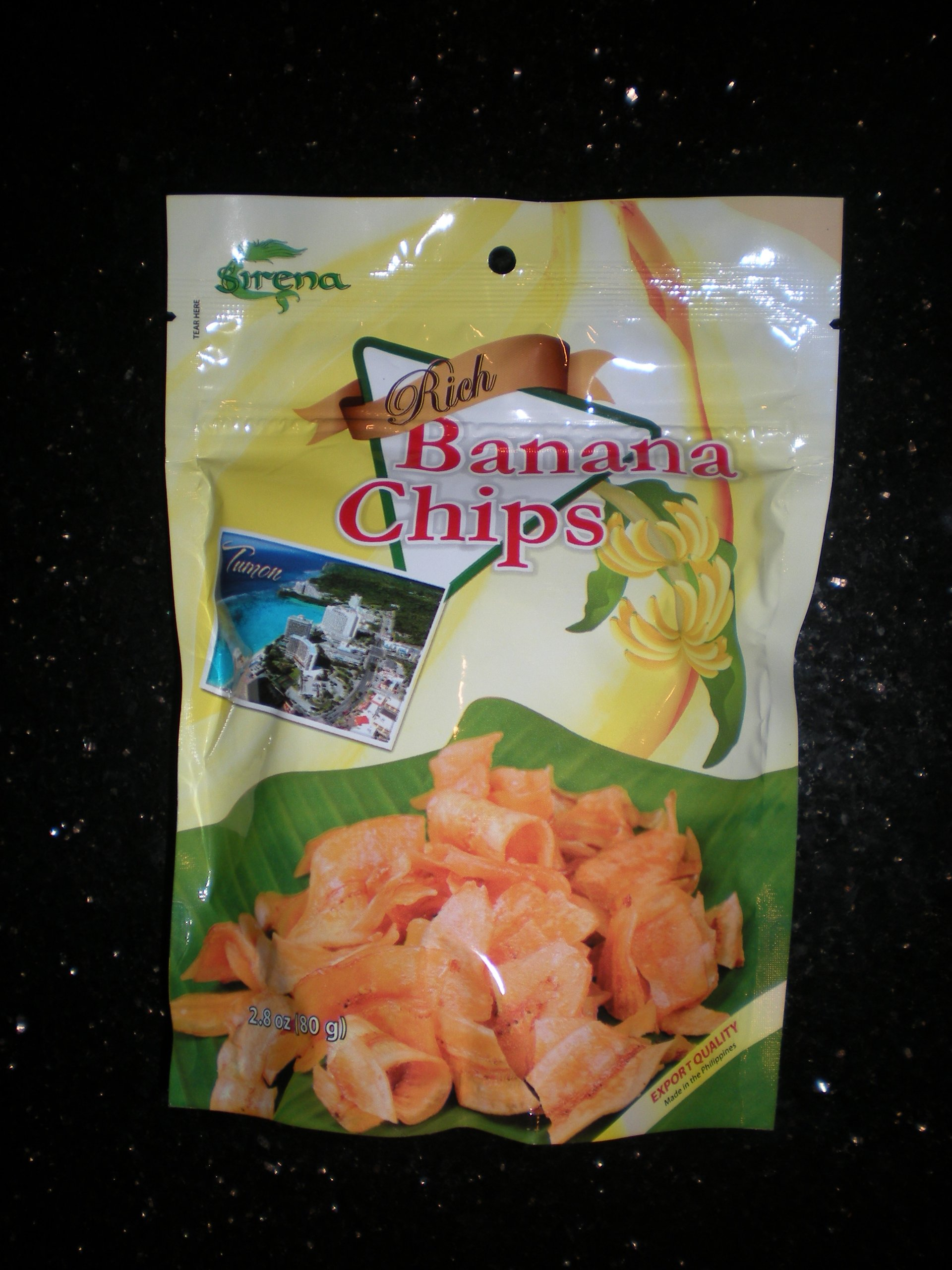 Banana Chips Rich Philippines 80g