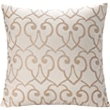 Simple Jacquard Floral 17x17-Inch Throw Pillow Cushion Cover - Pattern1