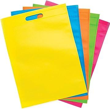 Baker Ross- Diseña tu propia bolsa de tela de colores (Pack de 6 ...