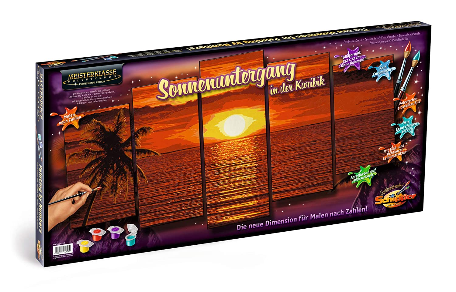 Caribbean Sunset Model Kit Schipper Adult Paint by Number