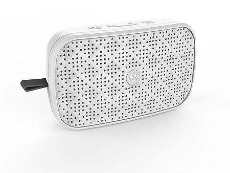 Motorola Sonic Play 100 Bluetooth Speaker  White  Bluetooth Speakers