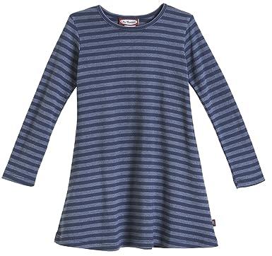 f008c715df3d City Threads Little Girls' Cotton Long Sleeve Dress, Striped Midnight, ...