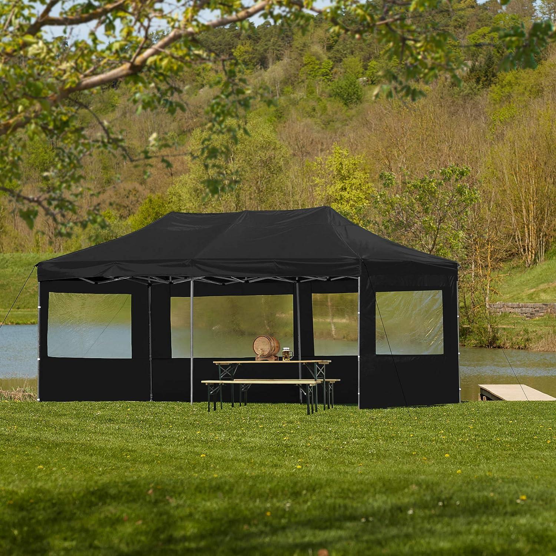 TecTake 800688 Carpa de Jardín 6 x 3m, Plegable, Aluminio, 100 ...