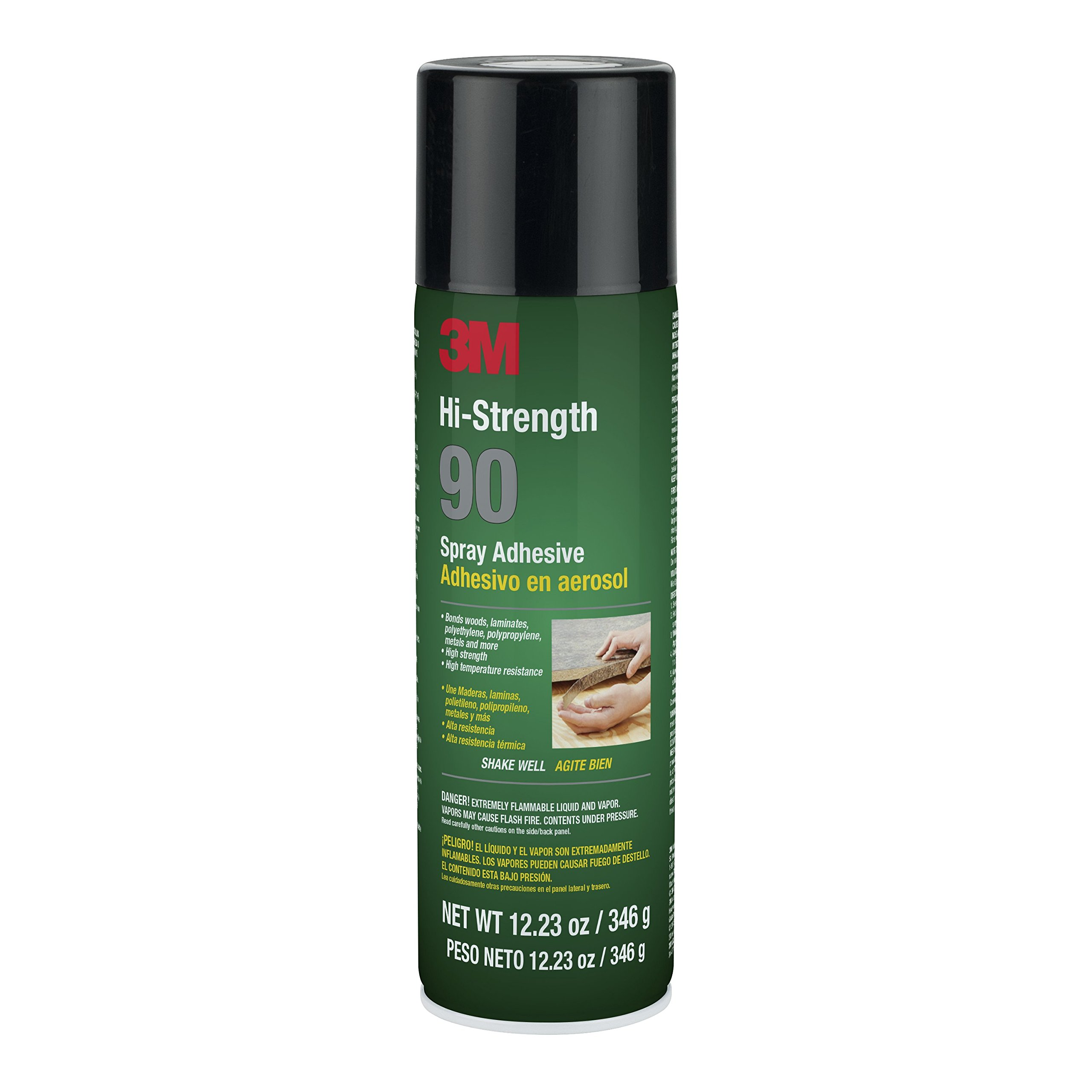 3M Hi-Strength 90 Spray Adhesive Clear, Net Wt 12.23 oz