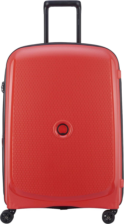 DELSEY Paris Belmont Plus Maleta, 70 cm, 81 Liters, Rojo (Rouge)