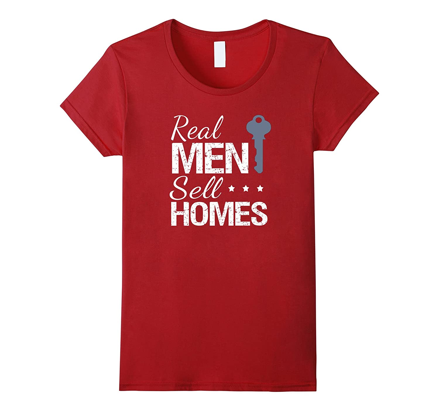 Real Men Sell Homes Male Real Estate Agent T-Shirt House Key
