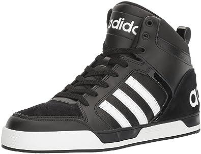 adidas Originals Men's Shoes Raleigh 9TIS Mid Basketball,  Black/White/Black, (