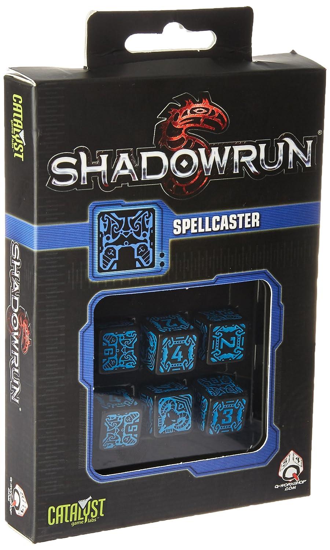 Qworkshop QWORKSHOPSSDH67/Shadowrun Spellcaster D6/Dice Set Pezzi