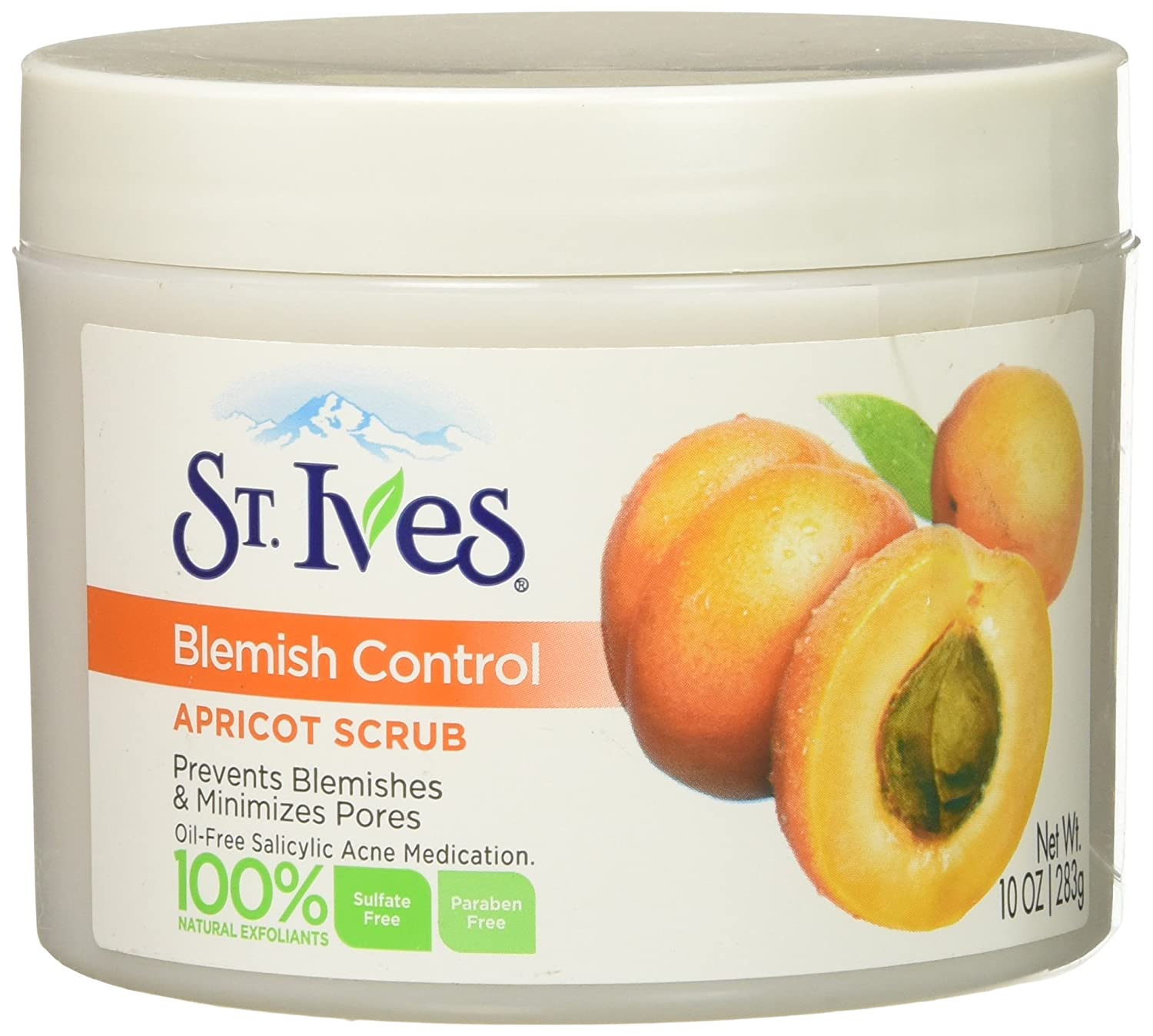 St. Ives Apricot Scrub Naturally Clear Blemish and Blackhead Control, 10 oz 11242