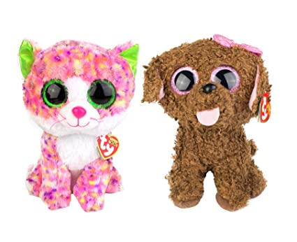 Amazon.com  Maven Gifts  Ty Beanie Boos 2-Pack – Maddie The Brown ... 9cd5fe61e510
