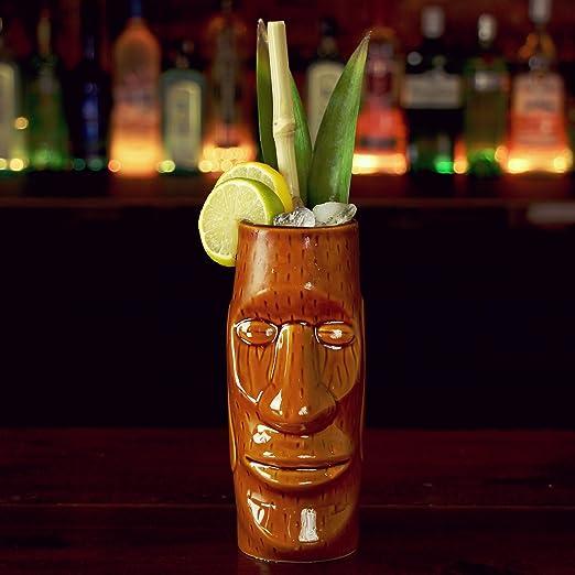 3 opinioni per Tazza a forma di Tiki dell'Isola di Pasqua, per cocktail in stile hawaiano, 415