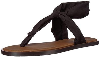 5fe731e060af08 Sanuk Women s Yoga Sling Ella Lx Flip-Flop Black 10 ...