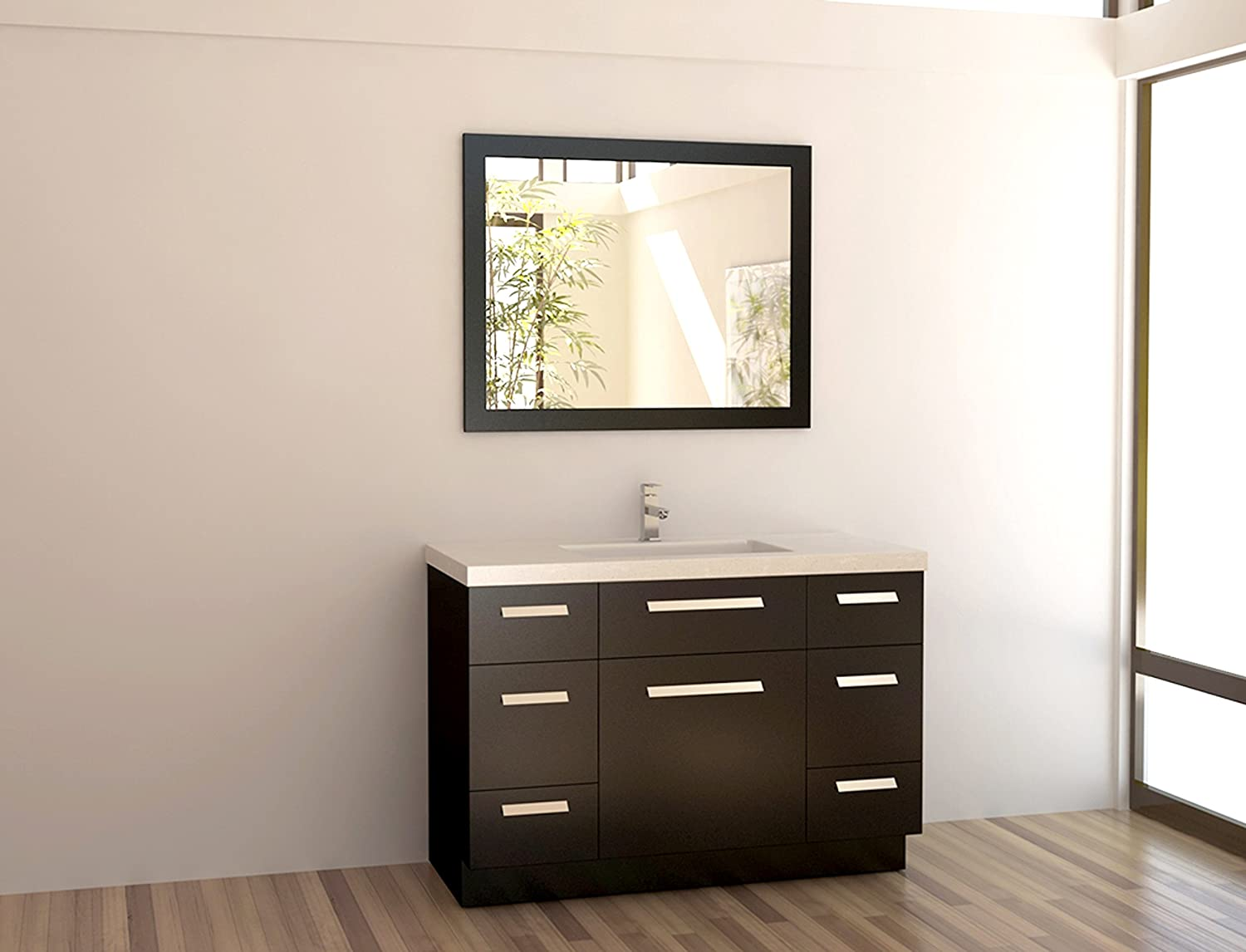 Design Element Moscony Double Sink Vanity Setwith Espresso Finish