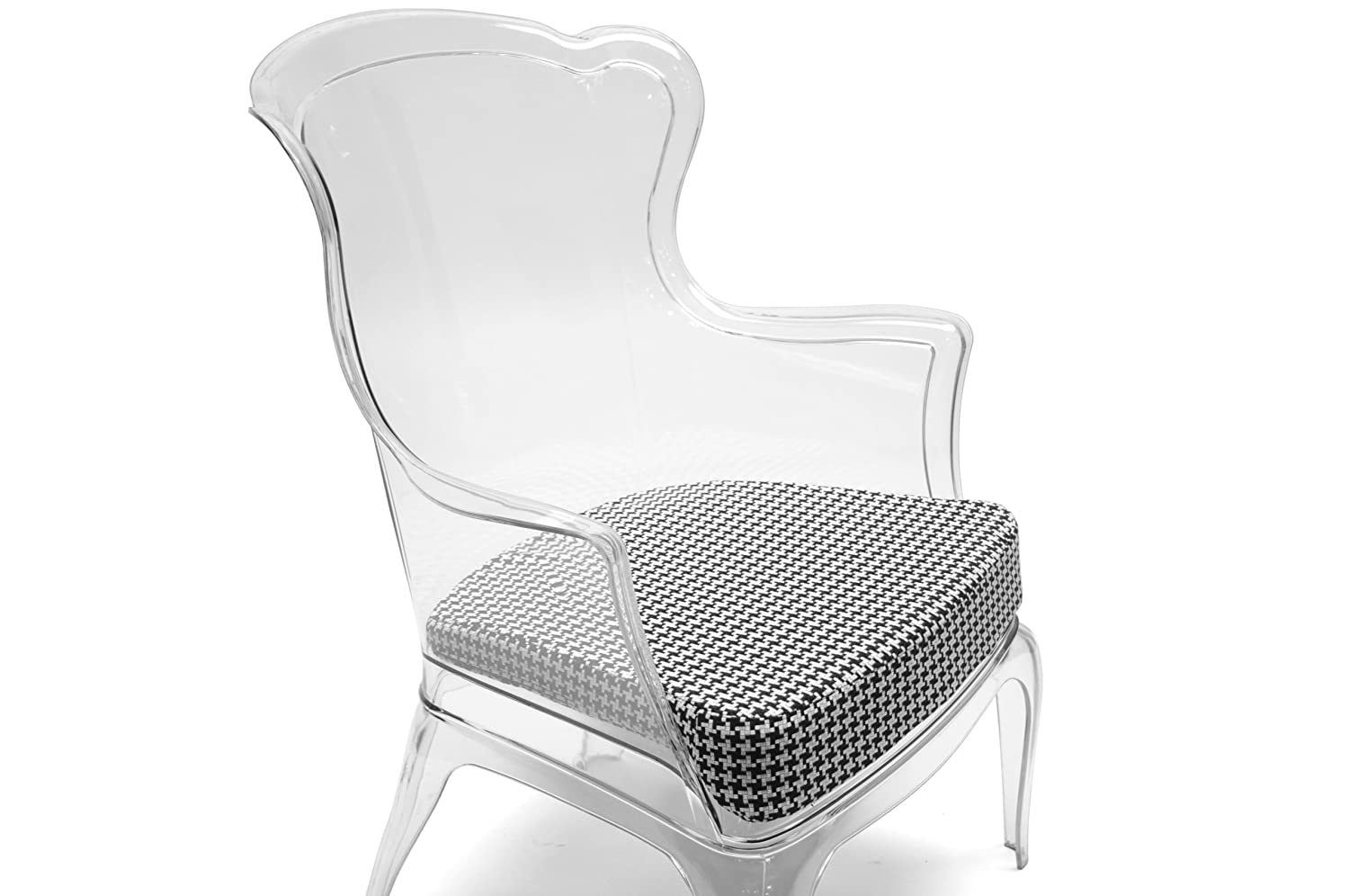 Amazon.com: Baxton Studio Tasha Polycarbonate Modern Accent Chair, Clear:  Kitchen U0026 Dining