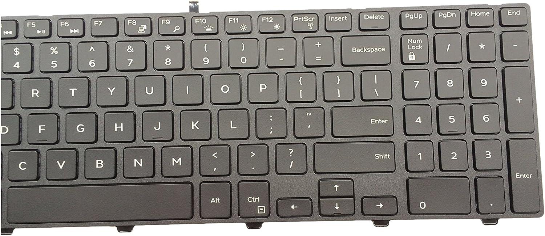 Sierra Blackmon New US Layout with Frame Backlit Laptop Keyboard for Dell Inspiron 15 3000 3541 3542 Series 15 5000 5547 Series Fit OG7P48 PK1313G1B00 NSK-LR0BC 01 Black Wholesale Laptop Keyboard