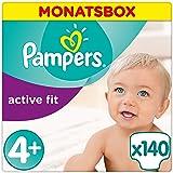 Pampers Active Fit Gr.4+ Maxi Plus 9-18kg MonatsBox