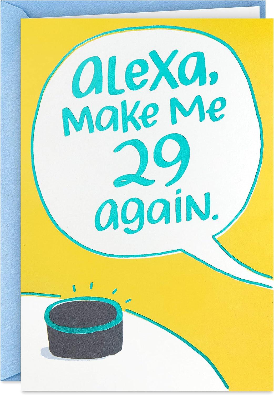 Hallmark Shoebox Funny Birthday Max 65% OFF Outlet SALE Card 29 Alexa Me Make