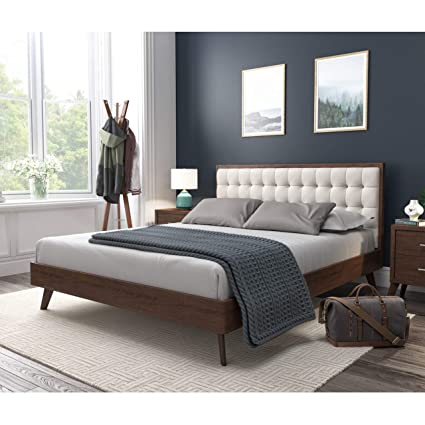 e04c8bc5b038 Image Unavailable. Image not available for. Color  DG Casa Soloman Mid  Century Modern Tufted Upholstered Platform Bed