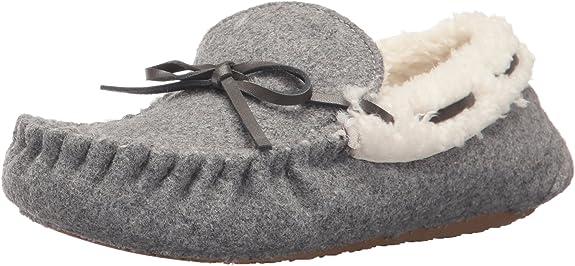 Stride Rite Unisex-Kid's Moccasin Slipper, Cozy Wool - Gray, 11-12 Little Kid best kids' slippers