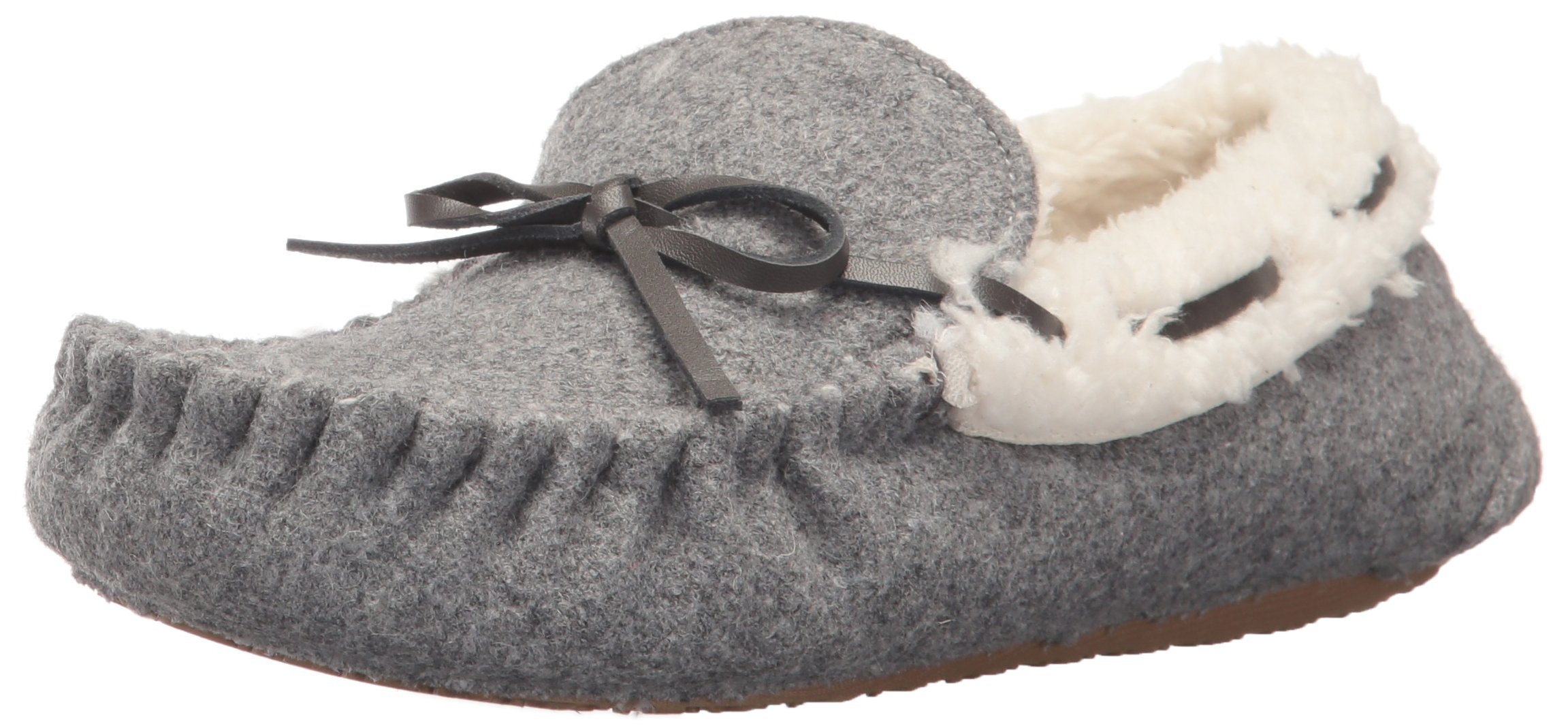 Stride Rite Baby Moccasin Slipper, Cozy Wool-Gray, 7-8 Toddler by Stride Rite