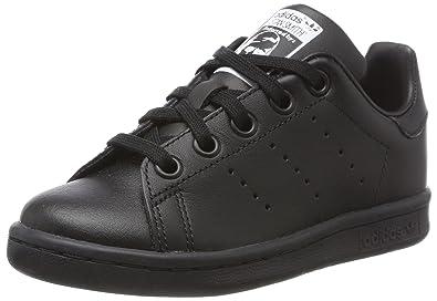 ad5ea335aeae8e adidas Originals Boy s Stan Smith Trainers 13 Child Black