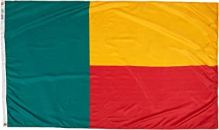 product image for Annin Flagmakers Model 192120 Benin Flag Nylon SolarGuard NYL-Glo, 4x6 ft, 100% Made in USA to Official United Nations Design Specifications