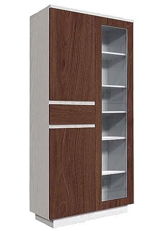 Angulo Interiores Vitrina con 3 Puertas y 1 cajón para Comedor ...