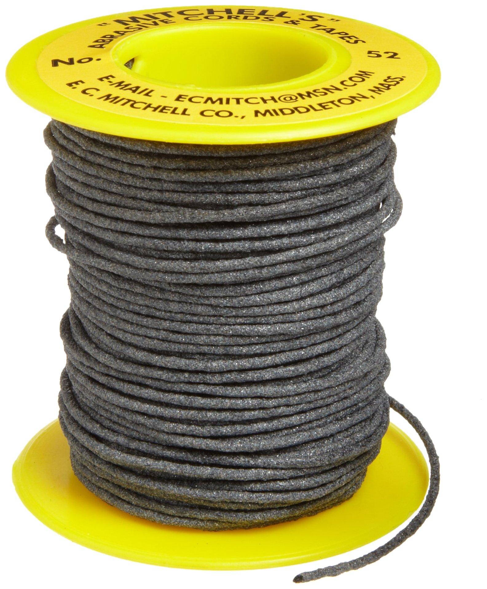 Mitchell Abrasives 52 Round Abrasive Cord, Aluminum Oxide 150 Grit .055'' Diameter x 25 Feet by Mitchell Abrasives