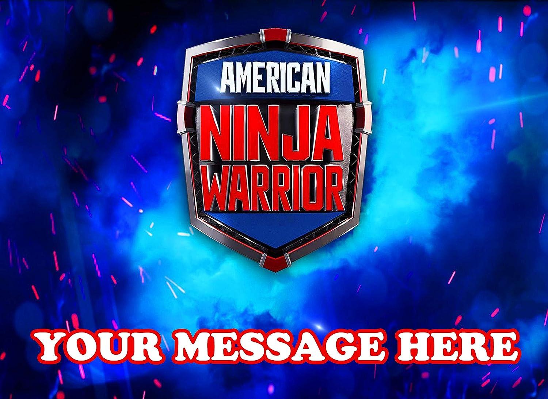 American Ninja Warrior Cake Topper Edible Image Personalized ...