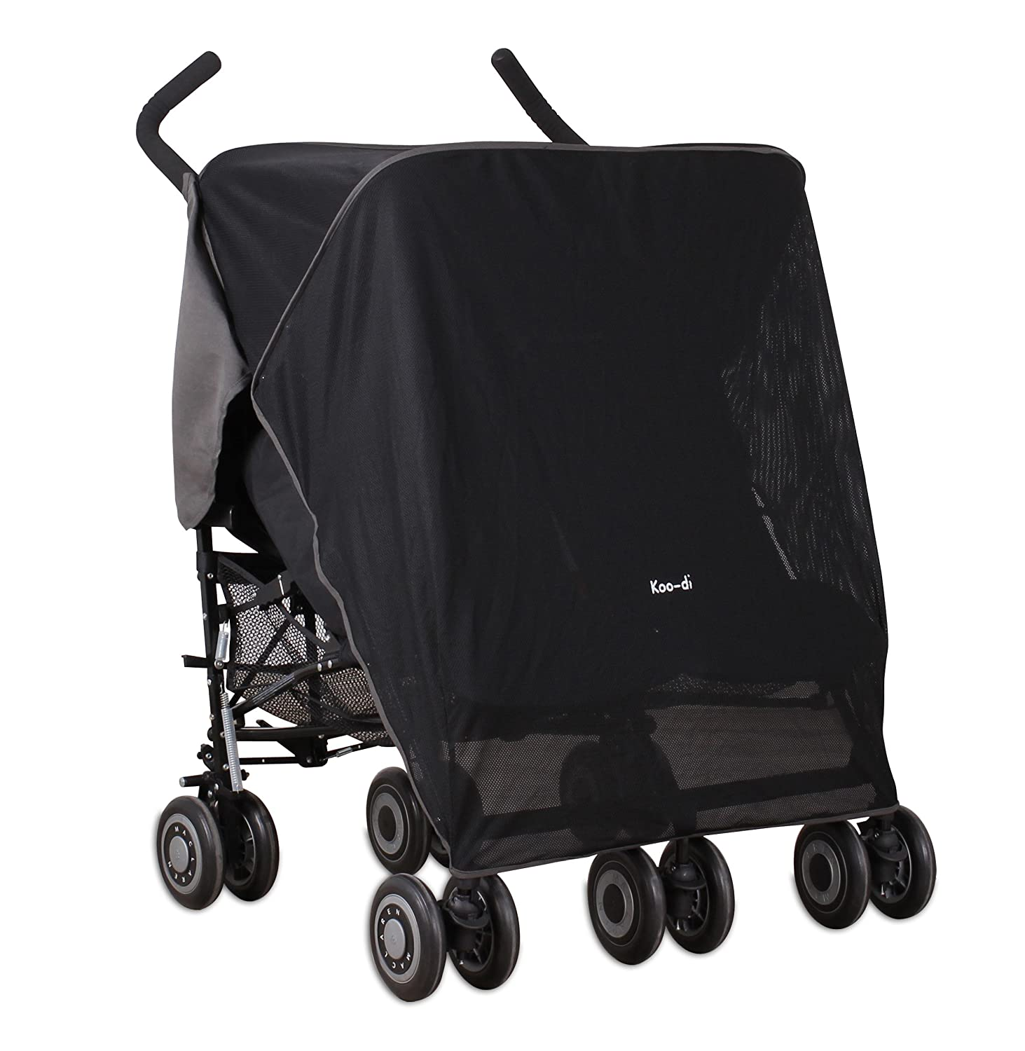 Koo-di Double Sun and Sleep Stroller Cover (Black) KD064/02