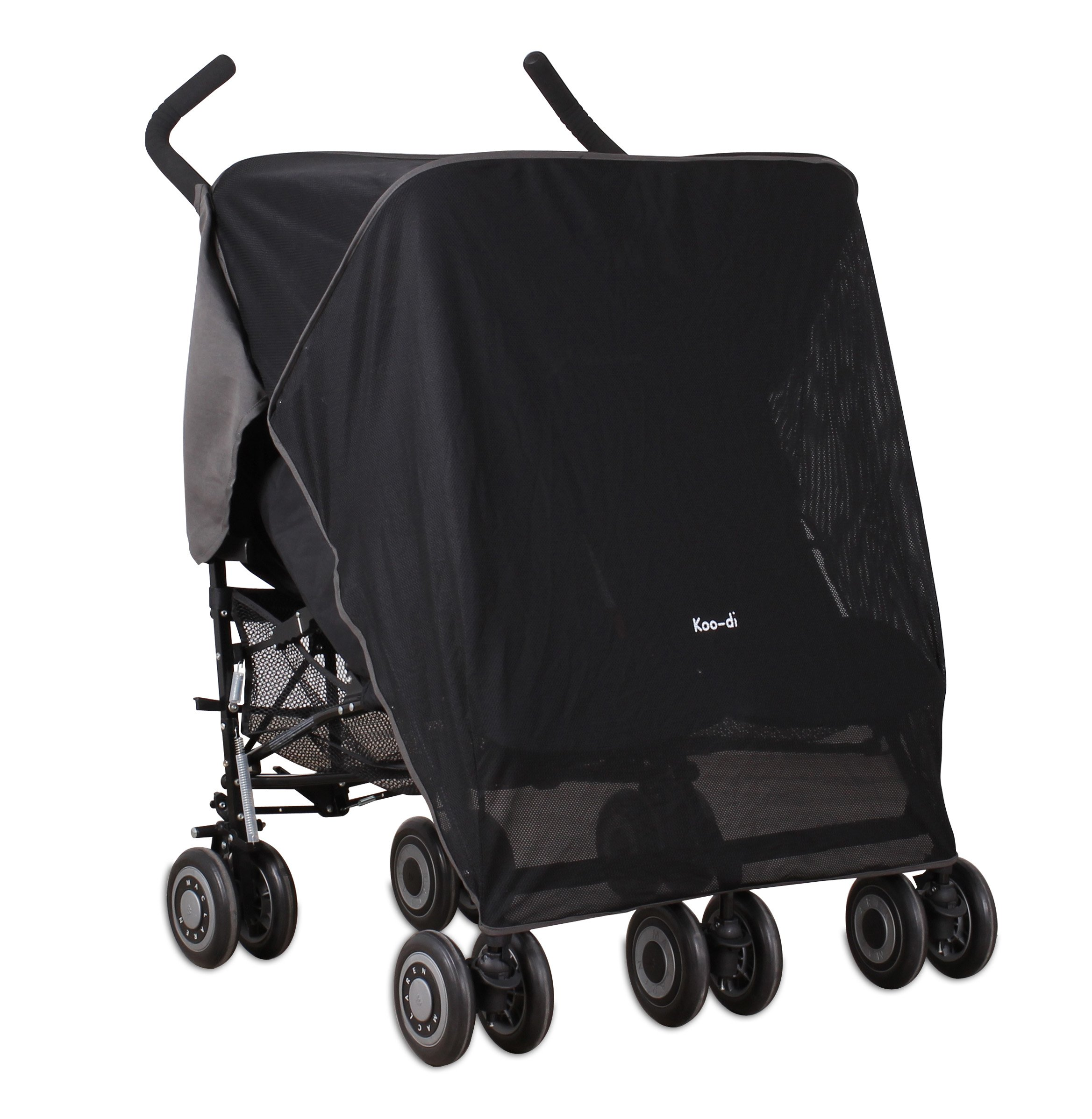 Koo-DI Double Sun and Sleep Stroller Cover (Black) by BabyCenter