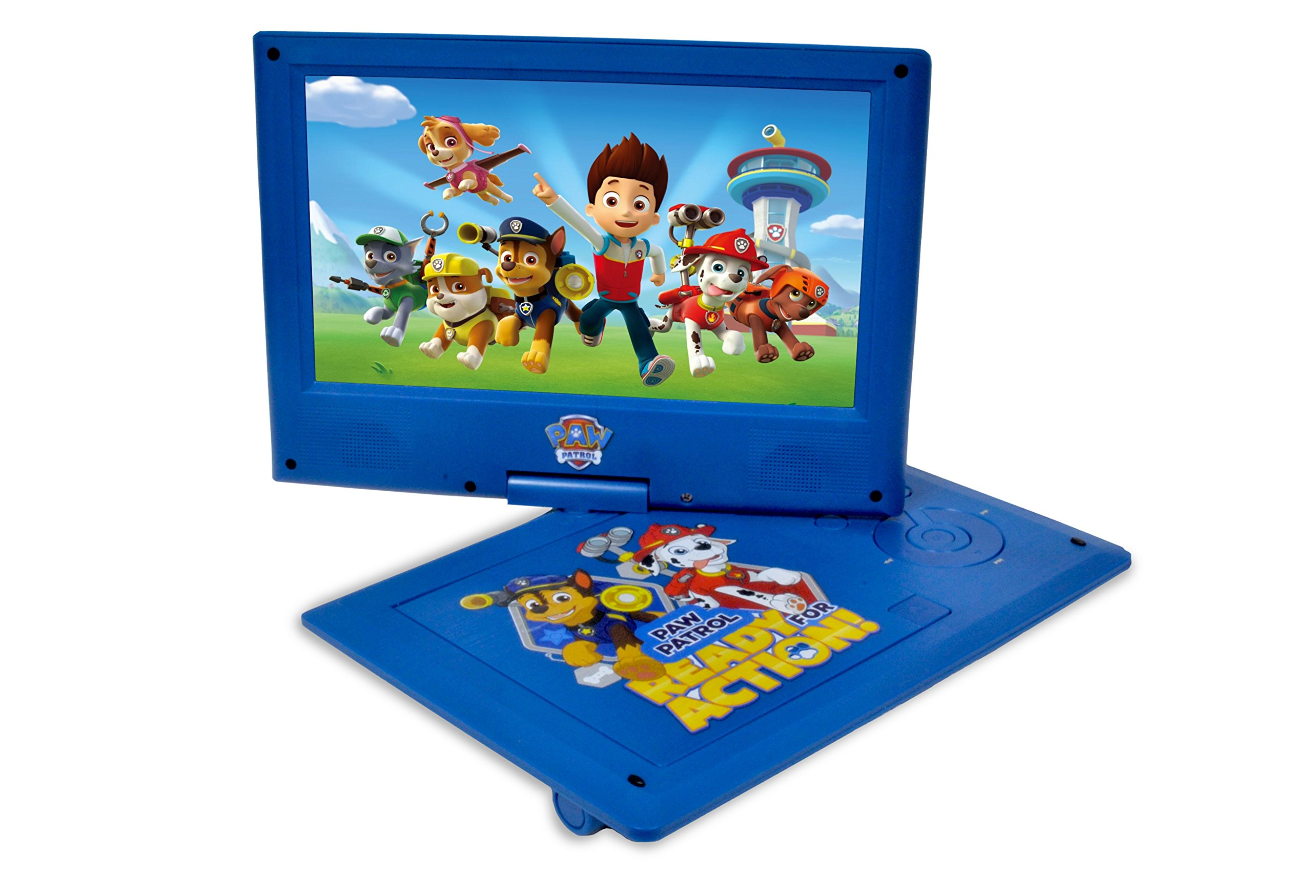 Ematic NPW7221PW Nickelodeons Paw Patrol Theme Portable DVD Player with 9-Inch Swivel Screen, Travel Bag and Headphones, Blue by Ematic (Image #3)
