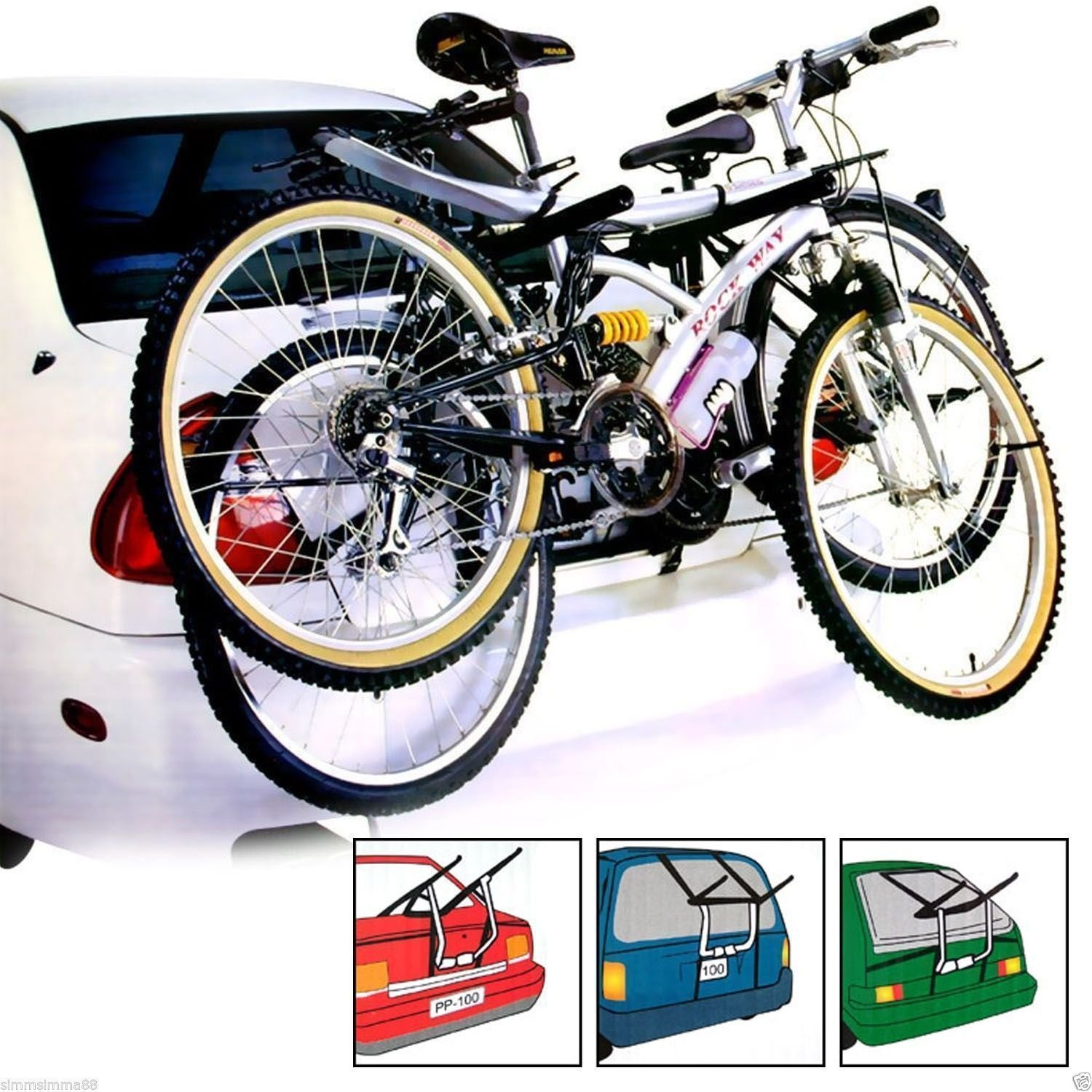 Mr E Saver© 2 Bike Bicycle Carrier Car Cycle Bicycle Rack - Rear Mount MRE2001