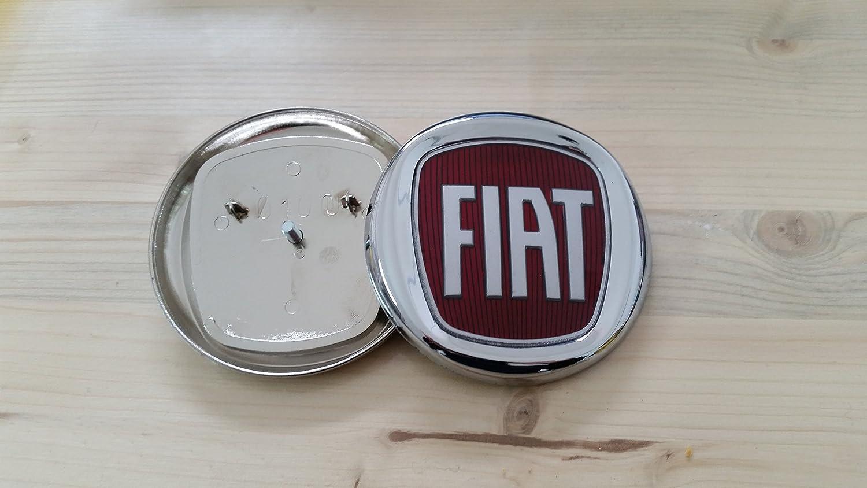 """FREGIO ANTERIORE ROSSO /""""FIAT/"""" PER FIAT BRAVO  ORIGINALE FIAT DIAM.100"""