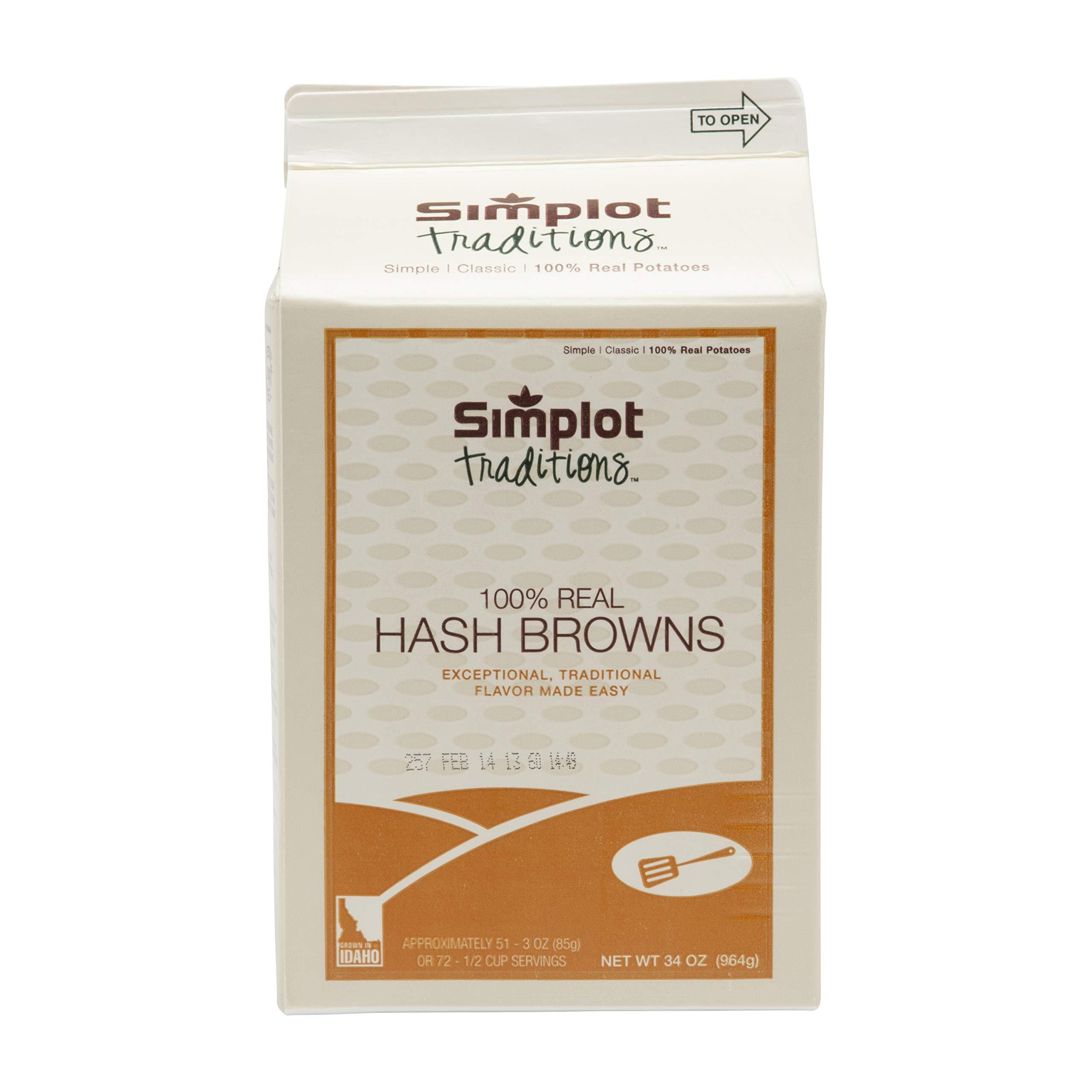 Simplot Traditions Hash Brown Potato Shreds, 2.12 Pound - 6 per case.