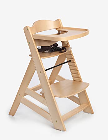 41bb6925e9c8 Amazon.com   Hot Sale! Sepnine Wooden Baby Highchair Dinning Highchairs  Height Right High Chair with Removeable Tracy 6561 Natural (Natural)   Baby