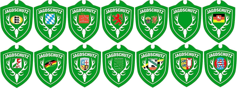 One Size Gr/ün Waidmannsbruecke Erwachsene Jagdschutz Mecklenburg-Vorpommern Autoschild
