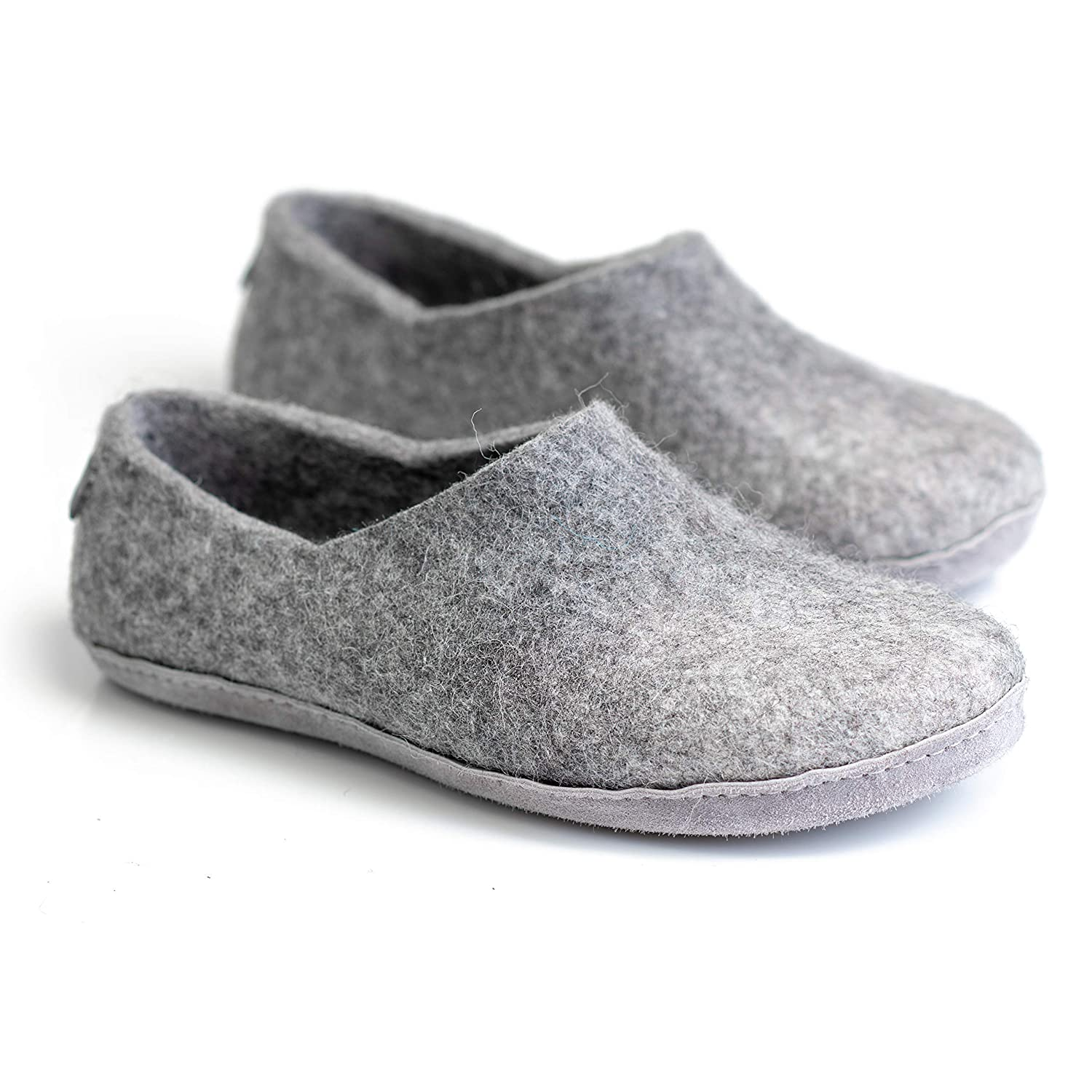 pick up special section 50% price Amazon.com: BureBure Felted Wool and Alpaca Clogs Slippers for Men ...