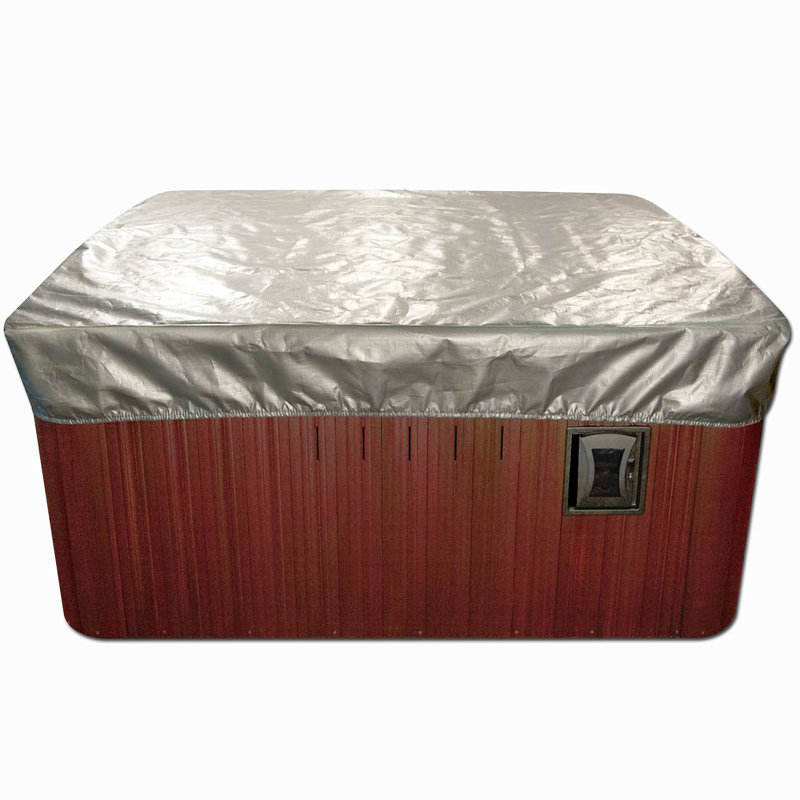 Spa Cover Cap Thermal Spa Cover Protector - 7 x 7 Feet x 12 Inches