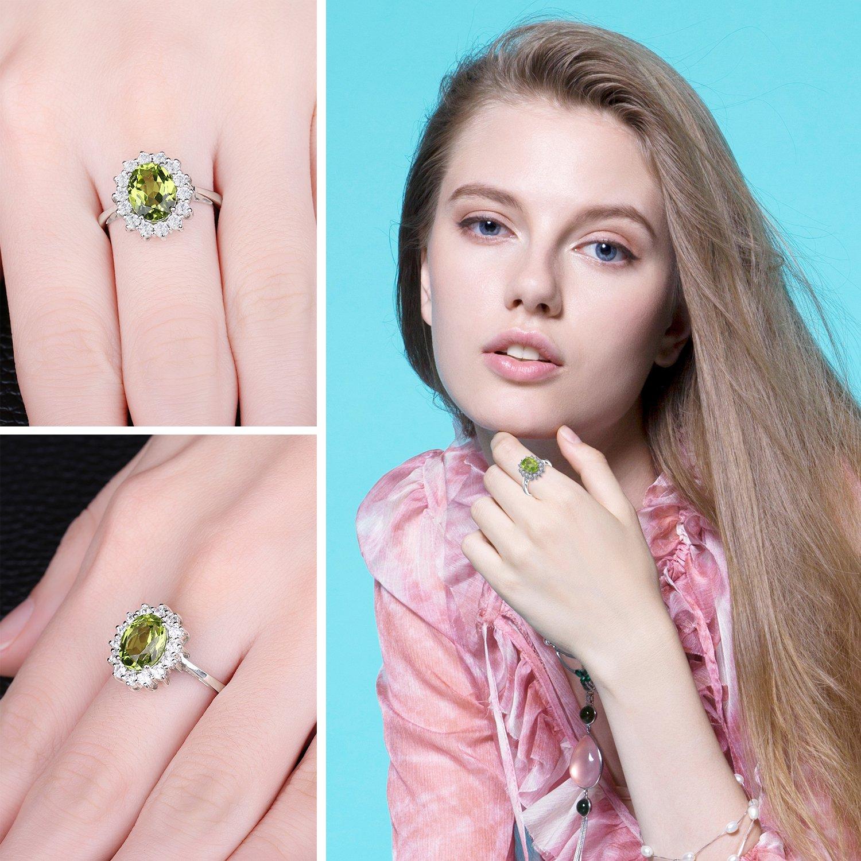 JewelryPalace Princess Diana William Kate 2.2ct Natural Peridot ...