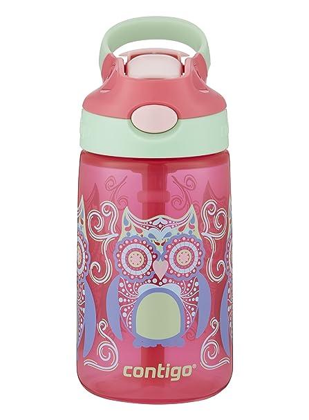 d644d30609 Amazon.com: Contigo AUTOSPOUT Straw Gizmo Flip Kids Water Bottle, 14 oz,  Sprinkles with Owl Parliament (2004943): Kitchen & Dining