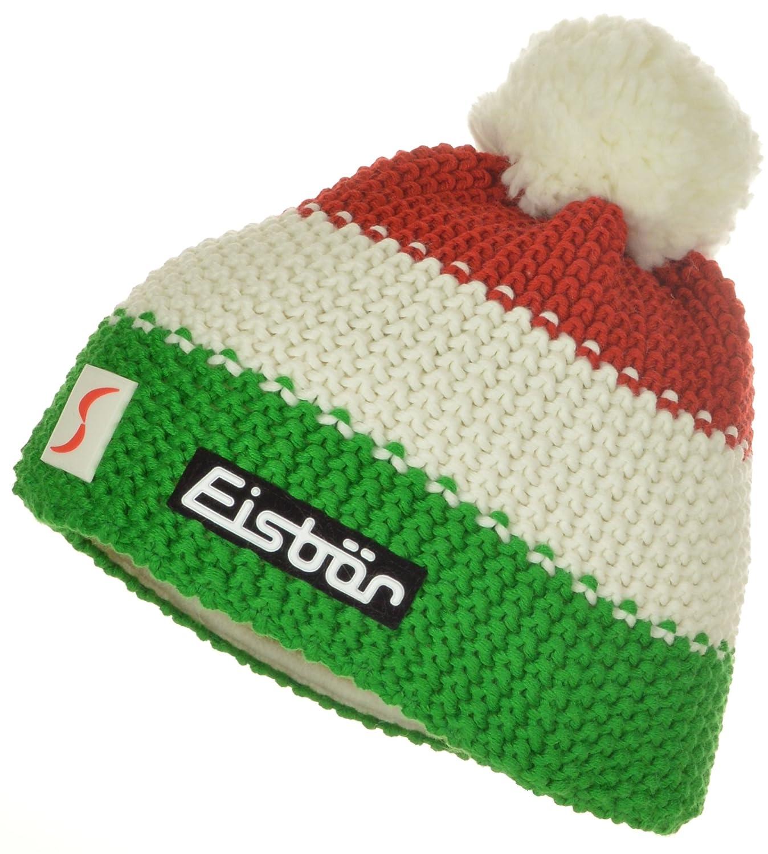 Eisbär Mütze Star Pompon ÖSV Skipool One Size | rot/weiß/grün großes Logo