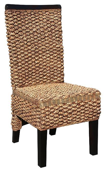 Gentil Water Hyacinth Boca Side Chair Made By Chic Teak