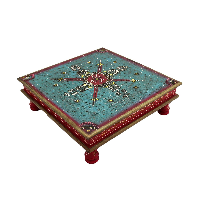 Stile Orientale Indiano Gall/&Zick Tavolino da Salotto Decorativo colorato MDF Dipinto a Mano in Legno di Mago