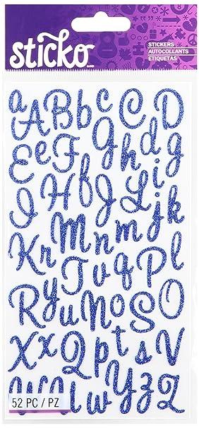 Color Azul Sticko Pegatinas de Alfabeto