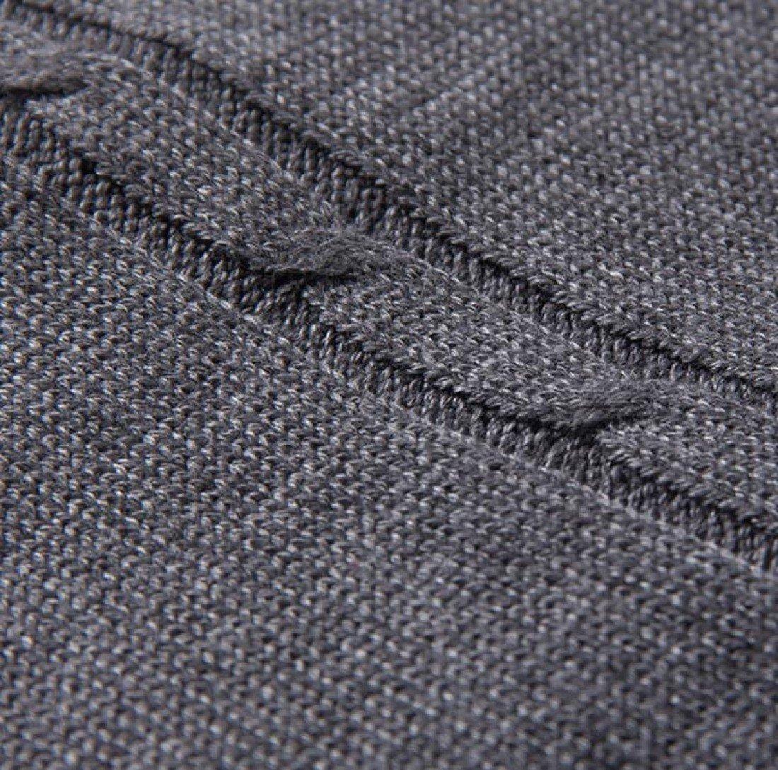 Doufine Mens Pullover Knitted Slim V-Neck Sleeveless Sweater Vest Dark Grey S by DoufineMen (Image #5)