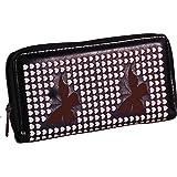EyeCatch - Womens Faux Leather Butterfly Hearts Wallet Purse