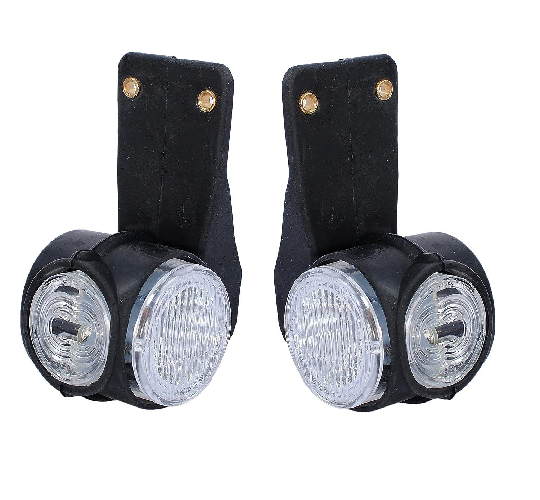 2x LED Positionsleuchten Begrenzungsleuchten Satz Hochwertig Seitenmarkierungsleuchten Gelb Rot Wei/ß Neu LKW Anh/änger 12V